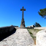 Christopher Columbus! It's a cross on a hill up Sant Salvador way!