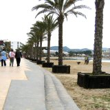 San Antonio beach and promenade. Quieter and more relaxed out of season!